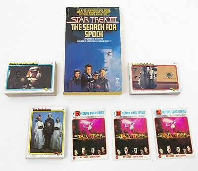 LOT OF STAR TREK 1980sTRADING CARDS & STAR TREK III 3 THE SEARCH FOR SPOCK BOOK