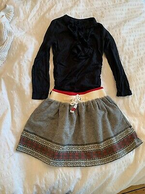 Girls Ralph Lauren Top And Skirt Size 5