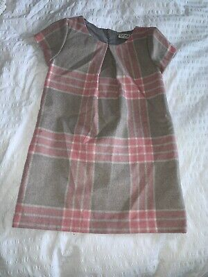 Girls Next Pink And Grey Cheque Dress Age 7 Years