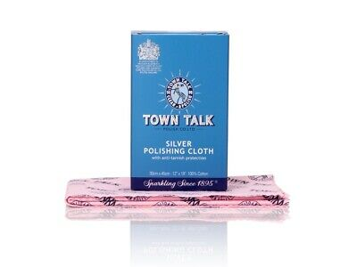 Town Talk Jewellery Care Cleaning Cleaner Silver Polishing Cloth