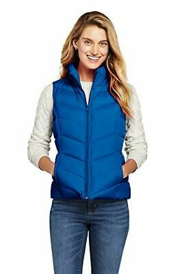 Lands' End Women's Winter Down Puffer Vest (Small|Fresh Boreal Blue)