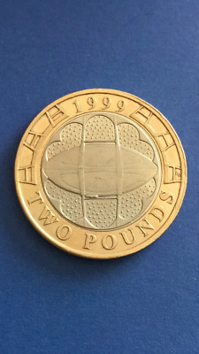 Collectable £2 Coin - Rugby World Cup (1999)