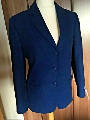 "BNWT CLAN HOUSE Royal Blue Girls School Blazer WOOL RRP £72 Sz 13 35"" Actual 38"""
