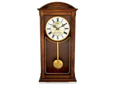 Seiko Oak Pendulum Chiming Wall Clock