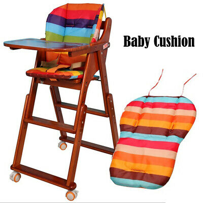 Baby Infant Stroller Cushion Colorful Striped Liner Car Seat Pad Pram Stuff Mat