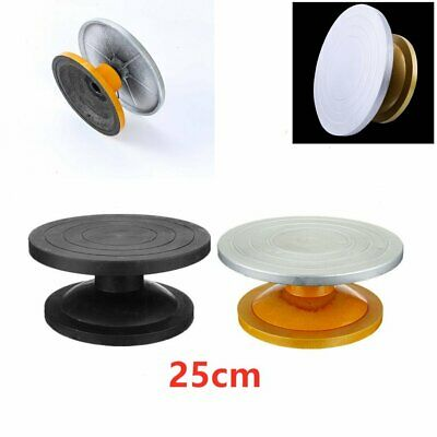 25cm Metal Potters Turntable Pottery Banding Wheel Carving Clay Manual Turnplate