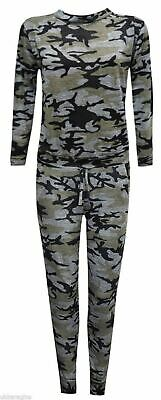 5-6 YRS Girls Camouflage Print 2-Piece Lounge Wear Tracksuit Jogging Bottoms Top