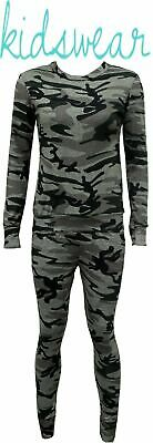 7-8 YRS Girls Camouflage Print 2-Piece Lounge Wear Tracksuit Jogging Bottoms Top