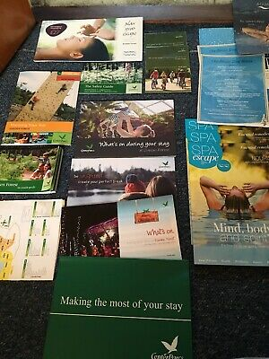 Center Parcs Memoribilia Bundle Holiday Maps Etc Ranging From 2005 - Up To Date
