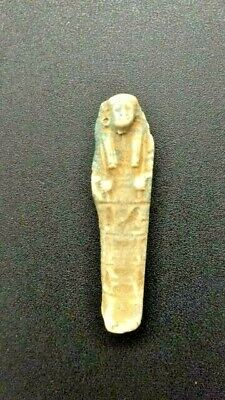 Ancient Egyptian Faience Shabti Statue, Ptolemaic era - Circa. 300 BC - 30 BC