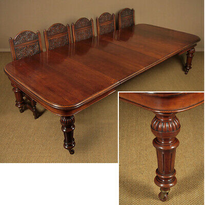 Antique Late 19th.c. Extending Oak Dining Table c.1880.
