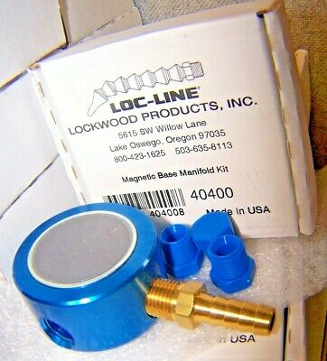"New Lockwood Loc-Line 40400 1/4"" Modular Hose System Magnetic Base Manifold"