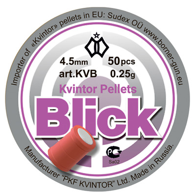 "Kvintor Pellets FLASH BANG  ""Blik"", .177 / 4,50mm, 0,25 g qty 50 free P&P"