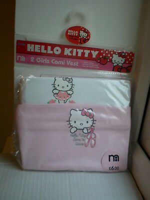 Hello Kitty Mothercare Girl Cami Vest 100% Cotton Size 6-7 years 122cm Underwear
