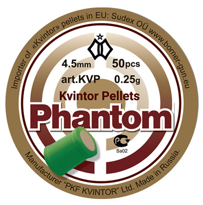 "Kvintor  ""Phantom ""  Shock & Awe pellets .177/4.50mm, 0,25g qty 50 free P&P"