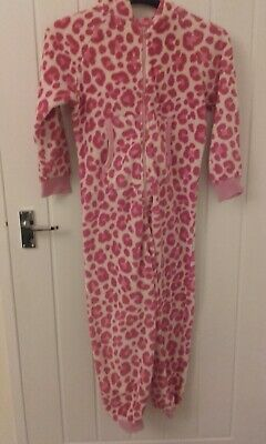 Next Girls Hooded Pink & White Onesie (Not Gerber) Size 10 Years 140cm