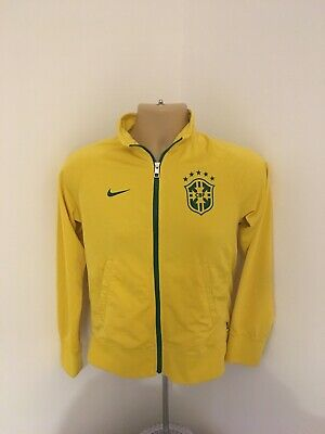 Brazil Nike Long Sleeve Football Tracksuit Top Size Childrens Large Boys 12-13y
