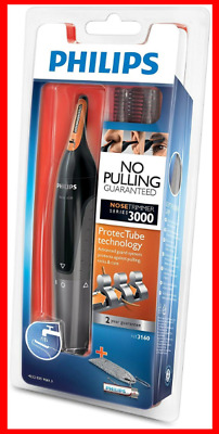 Philips Series 3000 Nose Trimmer NT3160/10 with 2 Eyebrow Combs FREEPOST