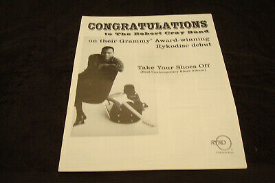 """THE ROBERT CRAY BAND 2001 Grammy ad for """"Take Your Shoes Off"""", Best Blues Album"""