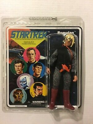 "Star Trek Mego Style Romulan 7 1/2"" Action Figure, Diamond Select Toys, Moc"