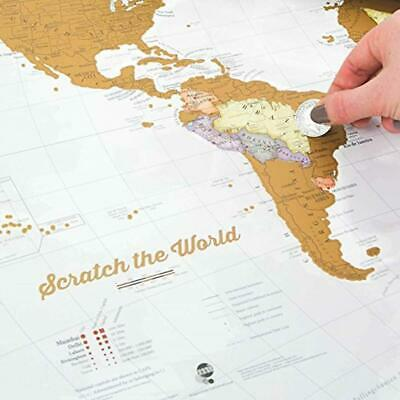 Maps International Scratch the World® Travel Scratch Off World Map Poster Gifts