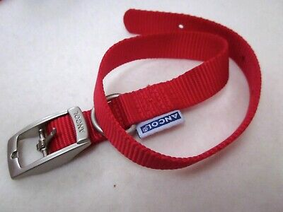 Dog Collar Ancol  Heritage Soft Puppy Nylon Strong Red