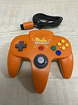 Nintendo 64 Controller Pikachu Orange Yellow Tested & Working Japan USED