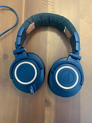 Audio Technica ATH-M50X Monitor Headphones - Blue/Tan