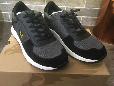 Lyle and Scott Speedie Leather Trainers Mens Size 10