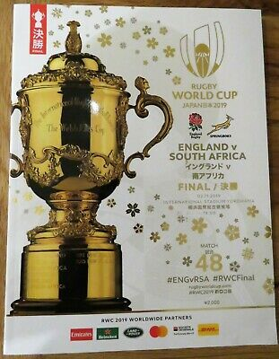 2019 - RUGBY WORLD CUP FINAL PROGRAMME - ENGLAND v SOUTH AFRICA - NEW CONDITION