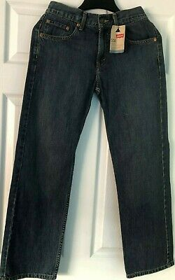 Levis 550 Jeans Boys Size 16 Reg 28x28 Relaxed Fit Tapered Leg Blue Denim NWT