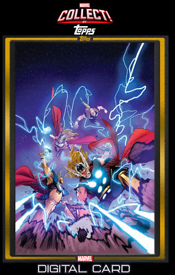 2019 COMIC BOOK DAY DEC 4 GOLD THOR THE WORTHY #1 Topps Marvel Collect Digital