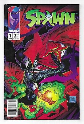 SPAWN #1 & 4 IMAGE COMIC BOOK LOT First print 1992 McFarlane newsstand 2 ISSUES