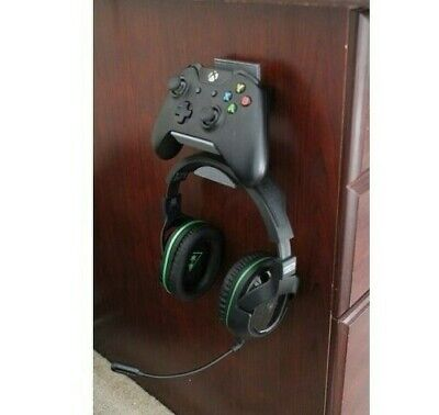 NEW Xbox One Controller Headset Holder Wall Mount Stand - SILK GREY