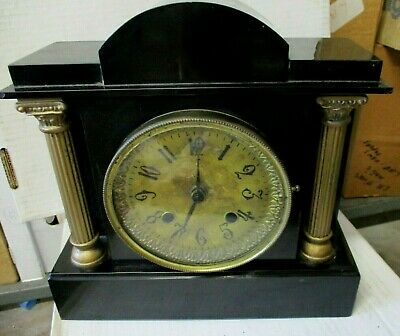 Vintage Westminster Chime Mantle Clock NEAT OLD WORLD CLOCK Chimes EVERY 15 mins
