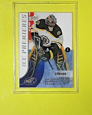 "MALCOLM SUBBAN 2015-16  ROOKIE  "" ICE PREMIERES 239/499""  Boston Bruins"