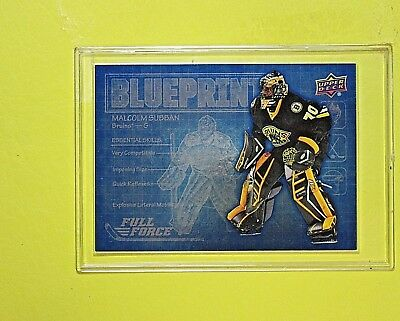 "MALCOLM SUBBAN 2015-16  ROOKIE  "" FULL FORCE BLUEPRINT ""  Boston Bruins"