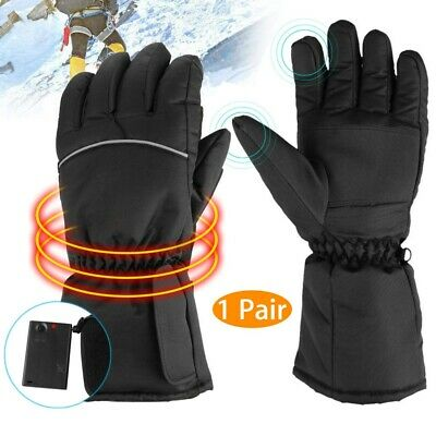 Battery Operated Heated Gloves Outdoor Winter Work Cold Warm Hands Waterproof US