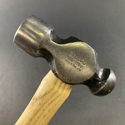 VINTAGE *NEW OLD STOCK* RECORD No.666 1-1/2lb ENGINEER'S BALL PEIN HAMMER *MINT*