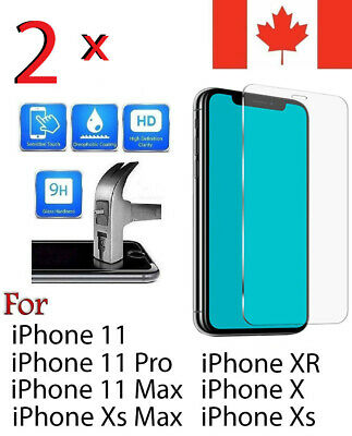 Premium Tempered Glass Screen Protector For iPhone 11,XR,11 Pro, Xs,X,Xs Max