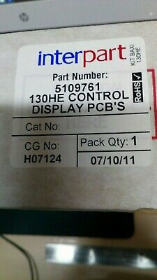 Genuine Interpart Spare Part Number 5109761 130He Controldisplays Pcb,S    (A1)