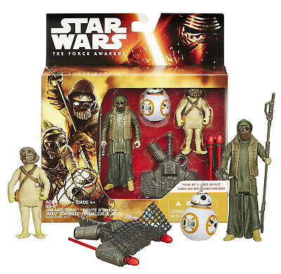 "Star Wars The Force Awakens BB-8, Unkar's Thug & Jakku Scavenger 3.75"" Figures"