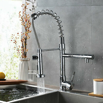 Kitchen Swivel Spout Single Handle Sink Faucet Pull Down Deck Mounted faucet