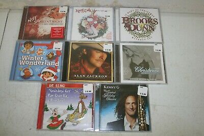 Lot 4: 8 New Sealed Christmas CDs - All Different Titles Country Pop Rock