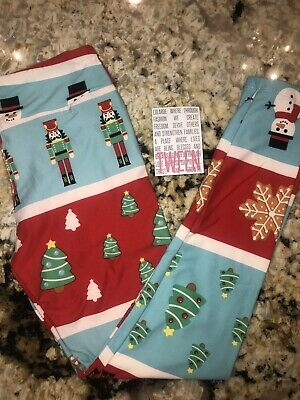 Nwt Lularoe Tween Kids Leggings 2019 Christmas Home For The Holidays Toy Soldier