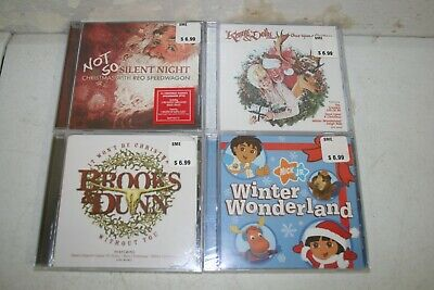 Lot 7: 4 New Sealed Christmas CDs - All Different Titles Country Rock Kids
