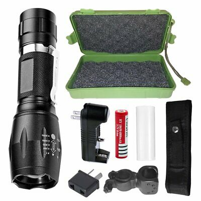 Flashlight LED Torch Rechargeable Battery 20000LM Shadowhawk