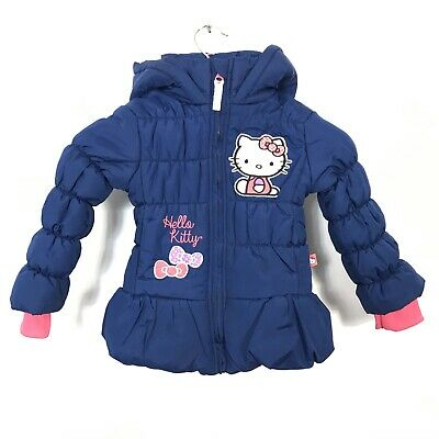 HELLO KITTY GIRLS Blue PUFFER JACKET COAT/HOOD SIZE 3 by Sanrio