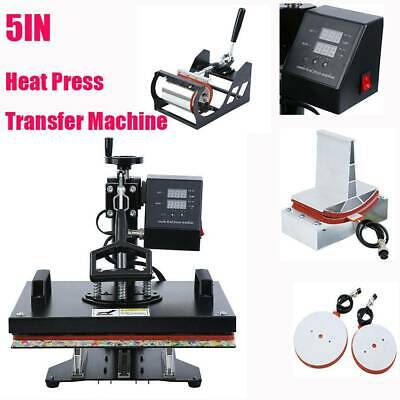5 in 1 Heat Press Transfer T-Shirt Mug Hat Sublimation Printer Printing Machine