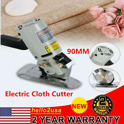 "Electric Cloth Cutter 3.5"" Fabric Leather Cutting Machine Round Scissors Rotary"